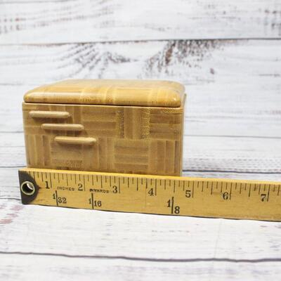 Vintage Wood Trinket Jewelry Music Box Japan Orugeru Co