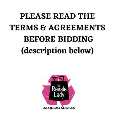 CLICK HERE TO READ TERMS & AGREEMENTS FOR THIS SALE