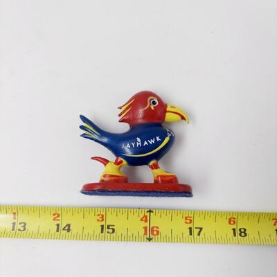 1940s CAST IRON JAYHAWK 2.5 INCH COLLECTABLE  - CAST IN KANSAS