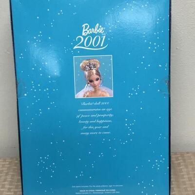 Mattel 2001 Barbie Collector Edition Teal Dress NRFB