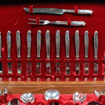 Sterling Silver Flatware Set Service for 12 plus Serving Pieces Unbranded