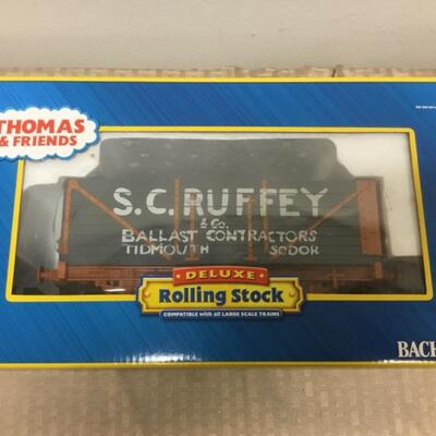 Bachman G scale Thomas & Friends S.C. Ruffy Deluxe rolling stock.
