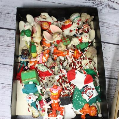Vintage Retro Christmas Tree Holiday Ornament Lot