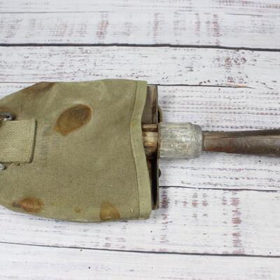 Vintage U.S. Army Wilderness Green Satchel Canteen Shovel and Belt