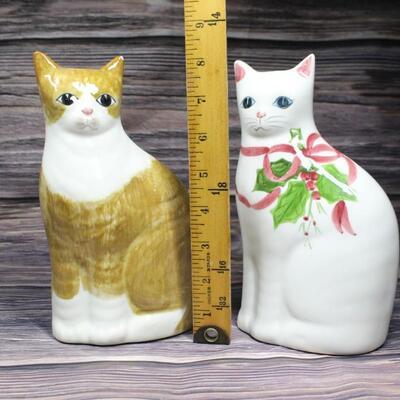 Pair of Vintage Home Decor Ceramic Cats