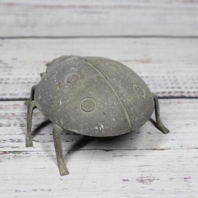 Outdoor Decor Metal Ladybug