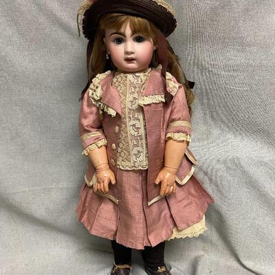 Antique Vintage Victorian Styled Bisque Composite Doll Tete Jumeau Stamped