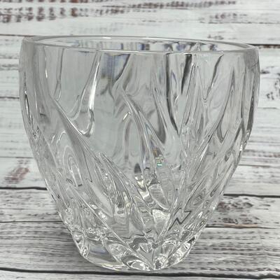 Gorham Star Blossom Collection Full Lead Crystal Bowl Votive Holder