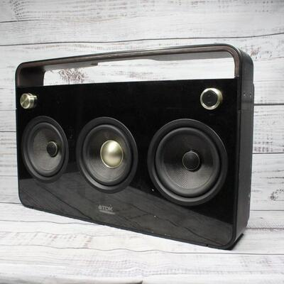 TDK 3 Speaker Boombox Audio System TP6803BLK Life on Record