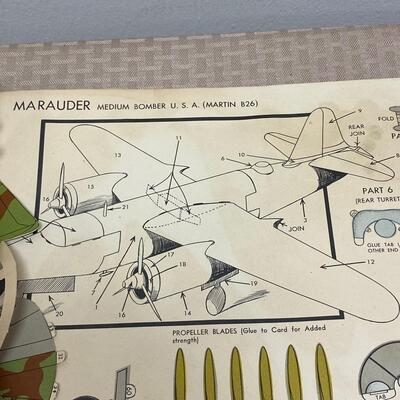 Vintage 1940s Rigby's Paper Model Airplane Books