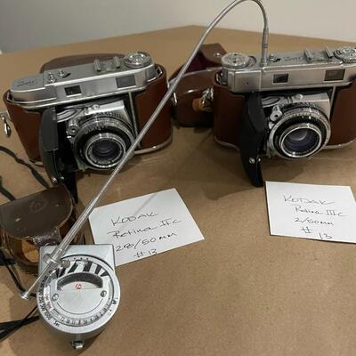 Kodak Retina Series IIa & IIIc with accessories