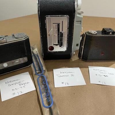 Kodak Compur Rapid, Kodak Tourist II, Kodak Deco 620 with Accessories