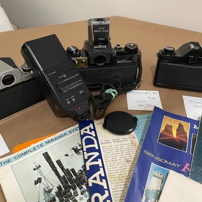 Miranda Cameras with Accessories