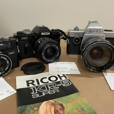 Ricoh Cameras with Accessories