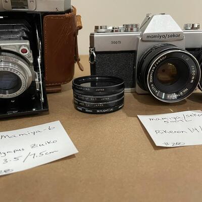 Mamiya 6 & Mamiya 500 TL with accessories