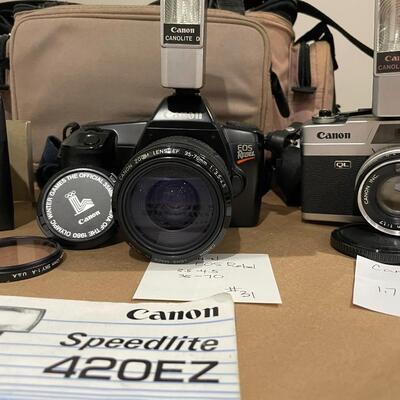 Canon Rebel, Canon Demi EE 17 with accessories