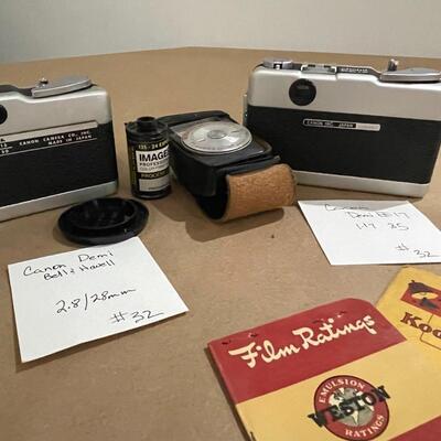 Cano Demi Cameras with accessories