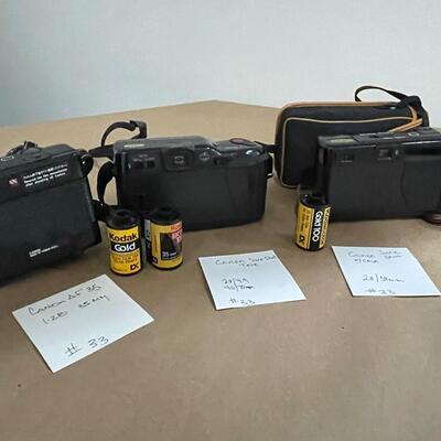 Canon Cameras with accessories