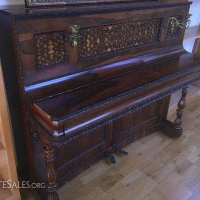 Cramer, Beale & Company 1865 Upright Piano Antique Non Forte 5ft x 2ft x 45in tall