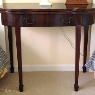 Antique Demi Lune Game Table By Georgetown Galleries