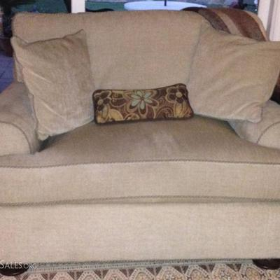 ETHAN ALLEN Sofa and matching Extra Large Chair