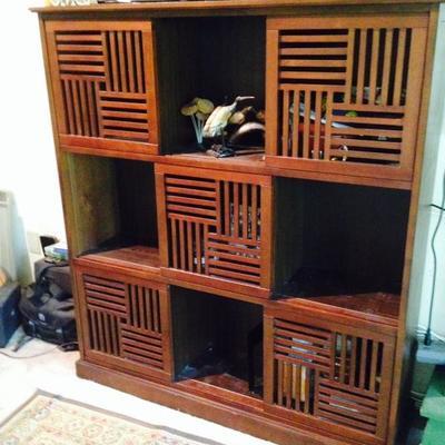 Bookcase - sliding panels