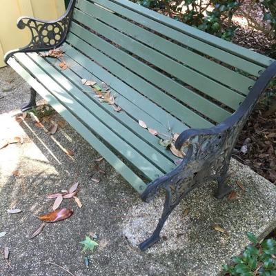 2 park style benches