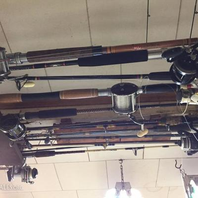 Large Variety of Fishing Rods