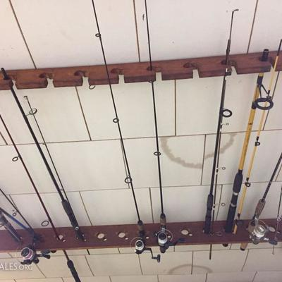 Large assortment of Fishing Rods