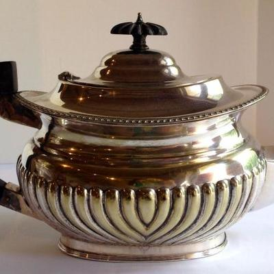 antique silver tea pot