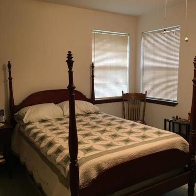 Vintage mahogany bedroom