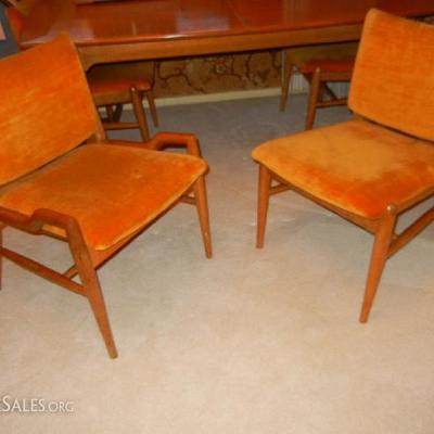 Closeup of chairs for dining table
