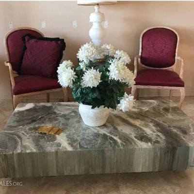 Large modern marble coffee table