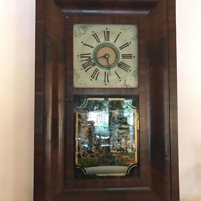 Antique shelf clock in Empire case