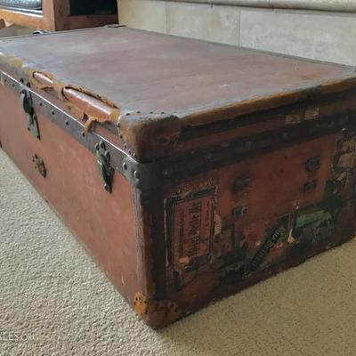Antique Louis Vuitton steamer trunk