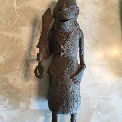 Old African forged iron fetish figure