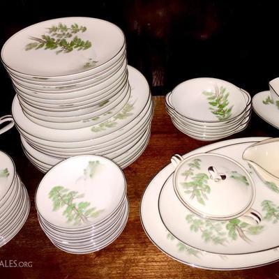 Beautiful Noritake china service with serene Asian design