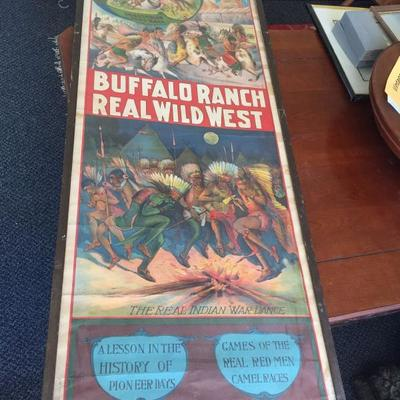Vintage Buffalo Rand Real Wild West show poster