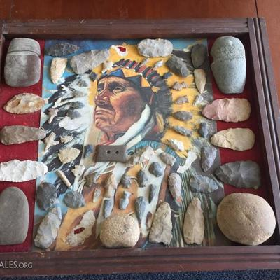 Native American painting with Arrowhead Collection