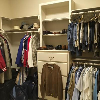 Men's clothes, shoes, belts & ties