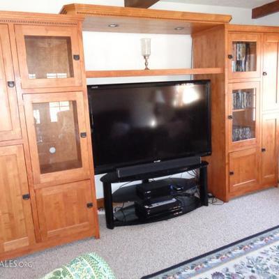 Solid wood wall unit