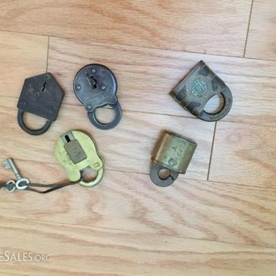 Padlocks with Keys.