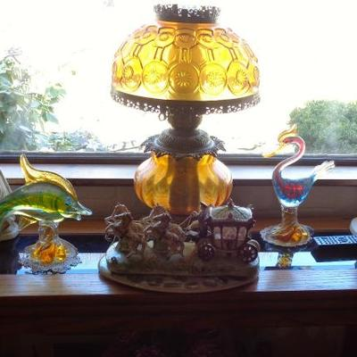Antique Lamps all over the home