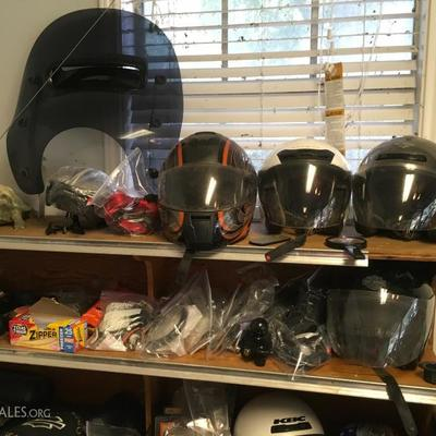 Motorcycle helmets and a few parts
