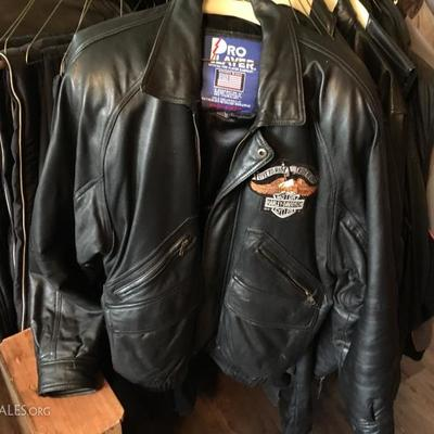 Leather jackets; Chaps; Motorecycle pants and jackets