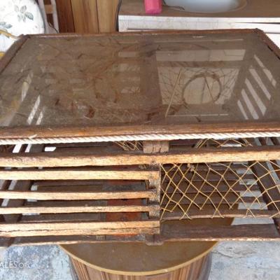 vintage lobster trap coffee table