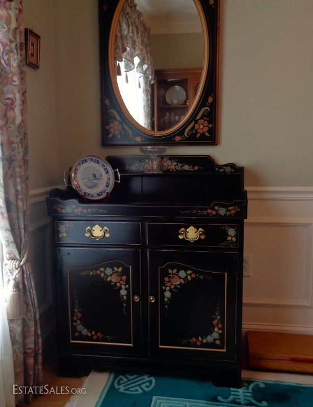 Ethan Allen side bar and mirror