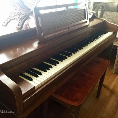 Henry F. Miller spinet size piano & bench