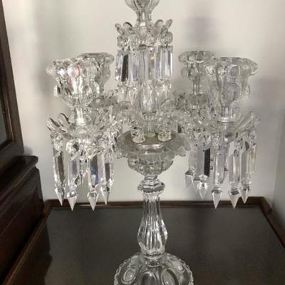 Baccarat crystal candelabra