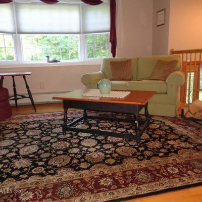 Area rug and love seat